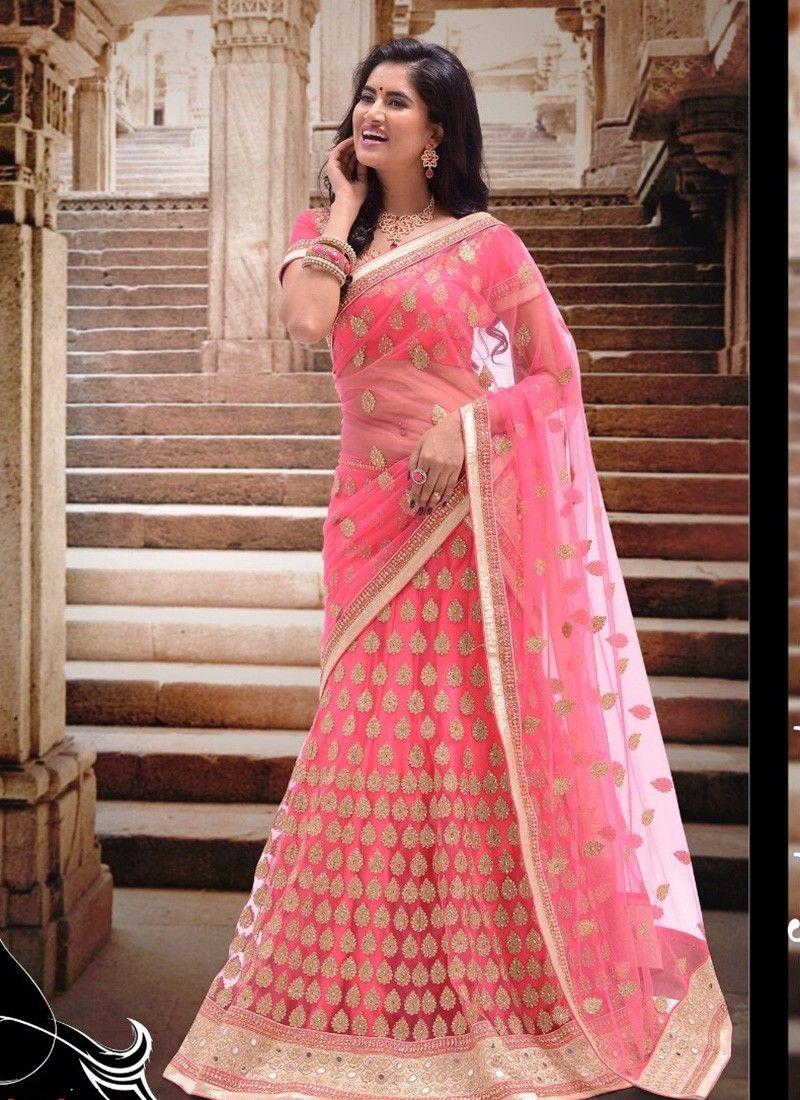 3010-Navratri-Special-Pink-Traditional-Chaniya-Choli-With-Net-Fabric ...