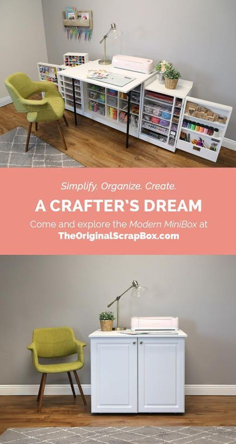 Modern MiniBox #craftroomideas