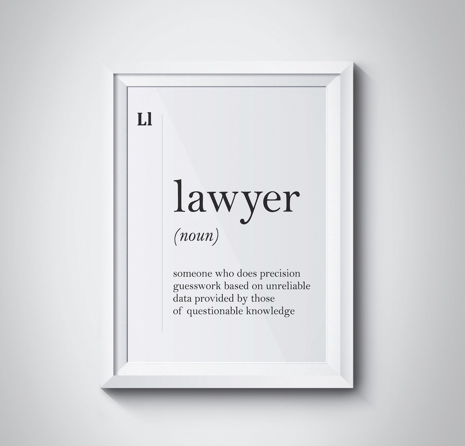 Lawyer Definition Funny Lawyer Gift Lawyer Poster Attorney Gift
