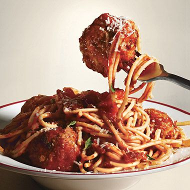 Spaghetti And Meatballs Allamatriciana Photo Ground Beef Recipes Recipe Epicurious Com All Amatriciana Spaghetti And Meatballs Amatriciana Recipe