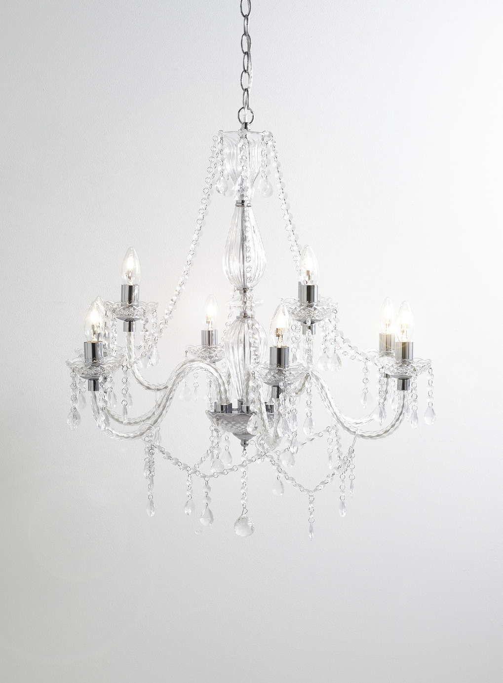 Chrome Bryony 9 Light Chandelier Bhs Bedroom Lighting Living Room Crystal Glass