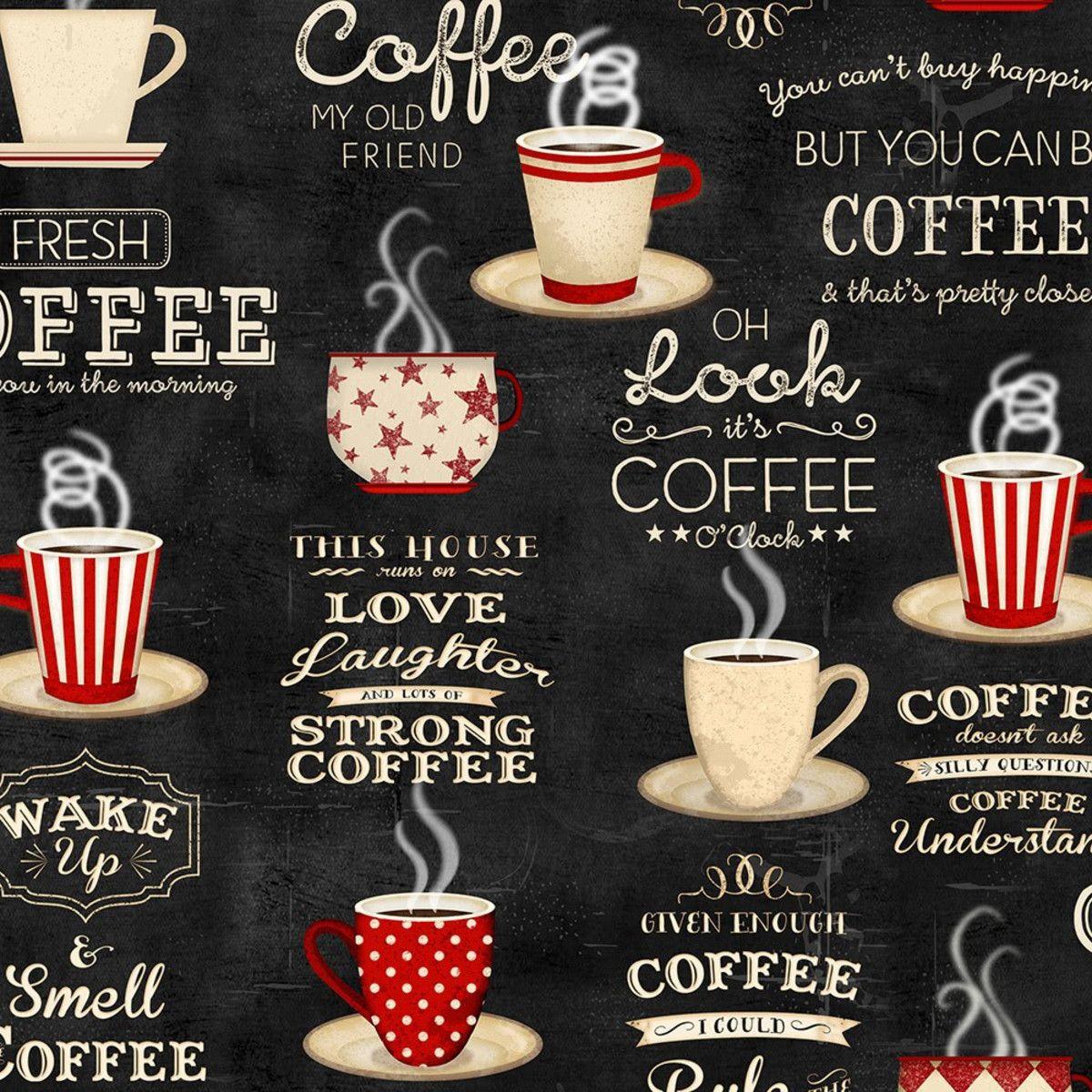 Wilmington Prints Coffee Time Jennifer Pugh Coffee Cups