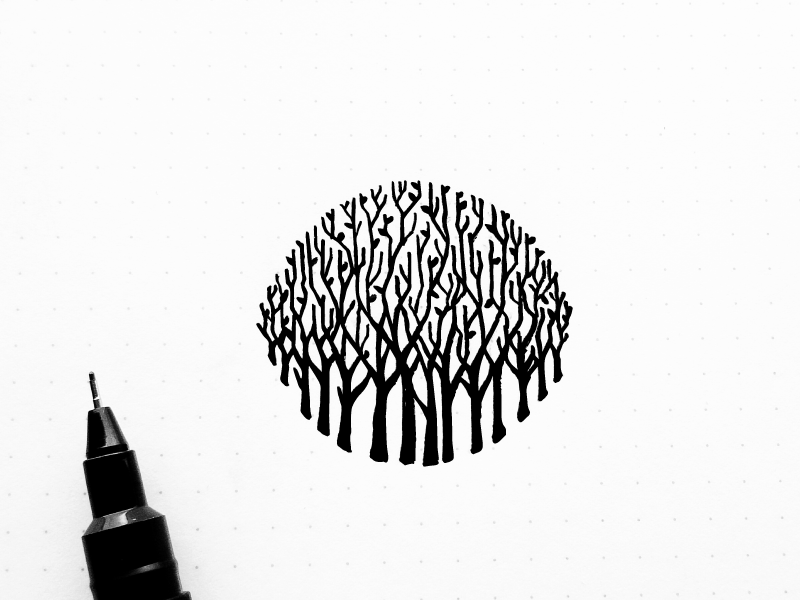 Forest Sketch Forest Sketch Environment Logo Forest Logo