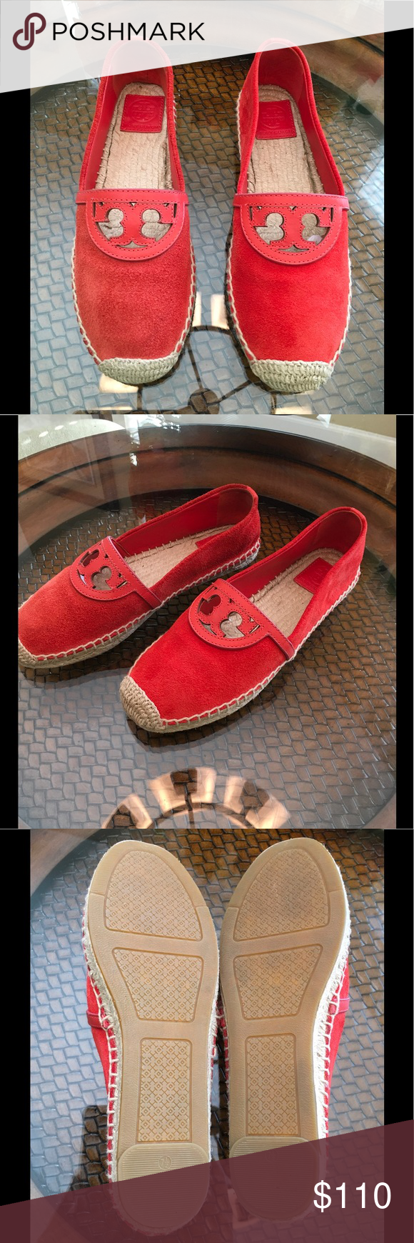 3398bd9f641e 💥Tory Burch Sidney Espadrilles 💥 Tory Burch suede and leather espadrilles  Slip on design Suede upper with cut-out leather design Jute footbed with  full ...