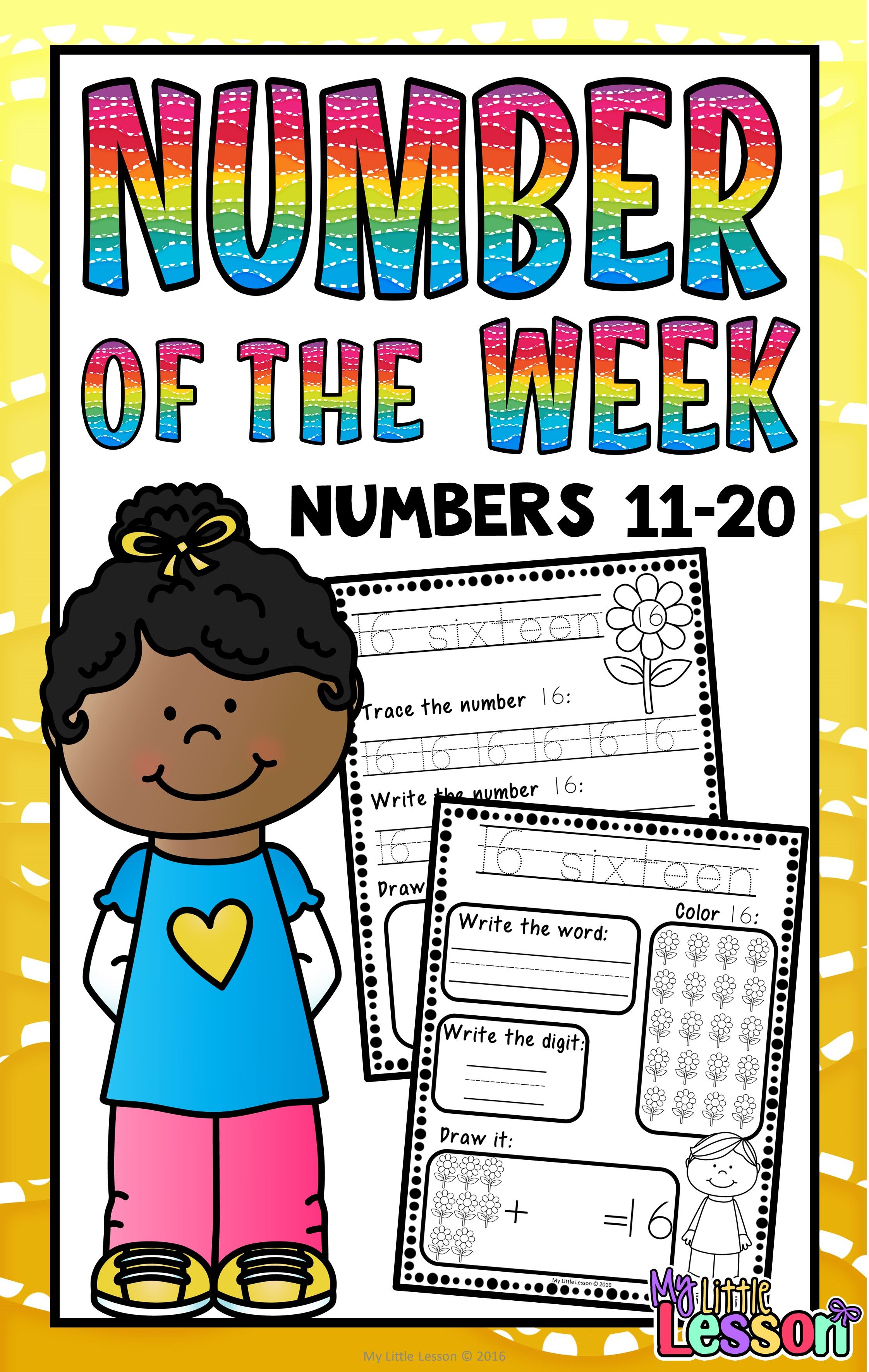 Numbers 11 20 Worksheets Number Of The Week