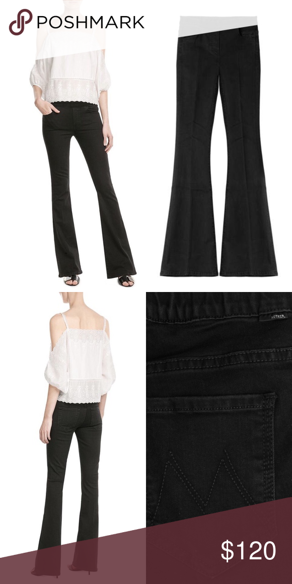 c2798dc369e2 MOTHER Denim The Cruiser Flare Wide Leg Jeans Incredibly soft black jeans  from Mother are as