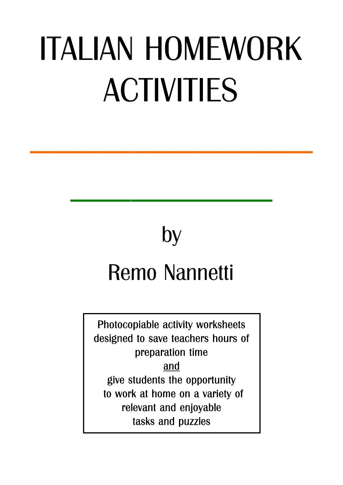 Italian Grammar Exercises And Homework Activities With