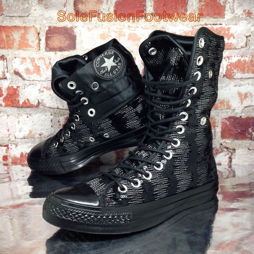 7b4ff70bf367 Converse Womens All Star Shoes Black sz 5 X HI Knee Chuck Taylor Boots US 7  37.5