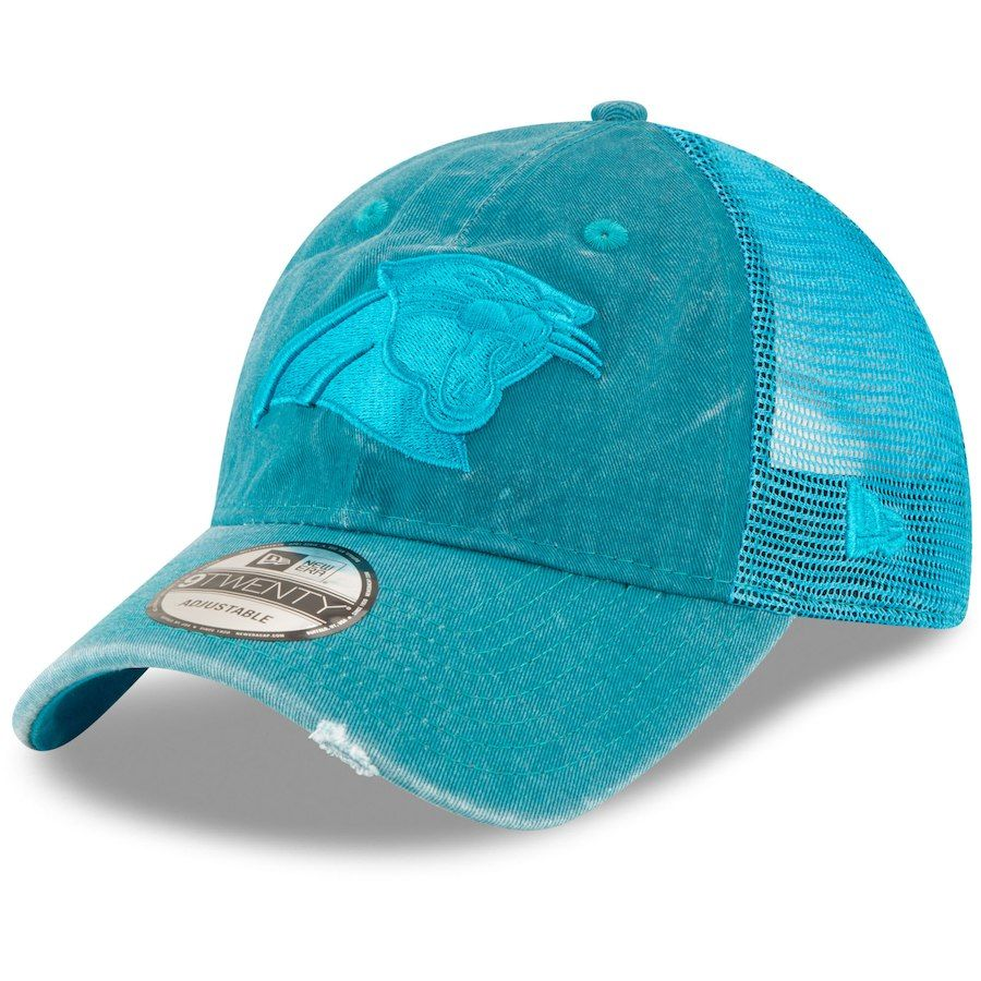 259a84a8e Women s Carolina Panthers New Era Blue Tonal Washed Trucker 9TWENTY  Adjustable Hat
