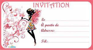 """Résultat de recherche d'images pour """"dessin carte d invitat…   Modele carte invitation ..."""