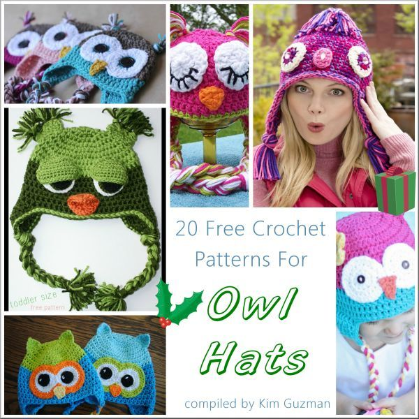 WIPs \'N Chains | Link Blast | 20 Free Crochet Patterns for Owl Hats ...