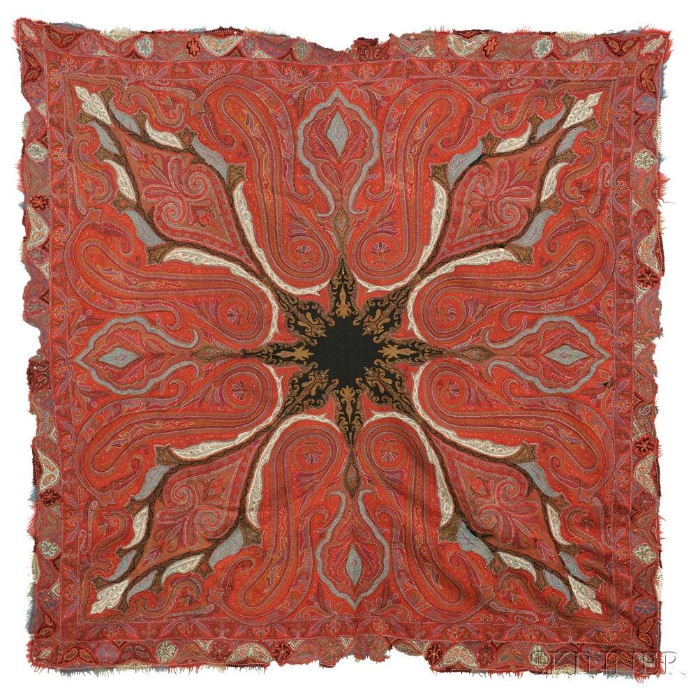 Rumal Shawl | Sale Number 2884B, Lot Number 187 | Skinner Auctioneers