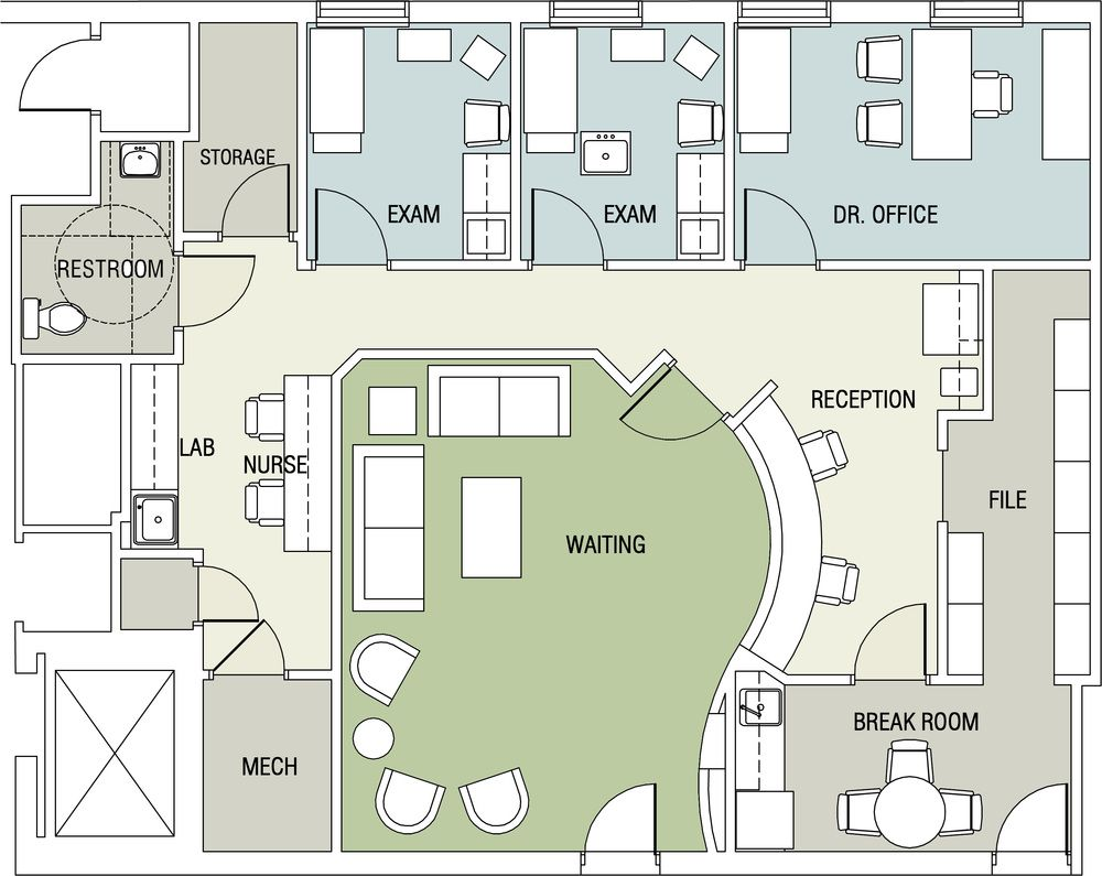 Image Result For Small Medical Building Floor Plan Office Space Planning Medical Office Design Floor Plans