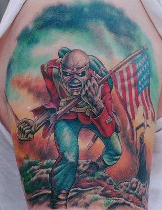 Iron Maiden Tattoo The Trooper Tattoos Patriotic Tattoos
