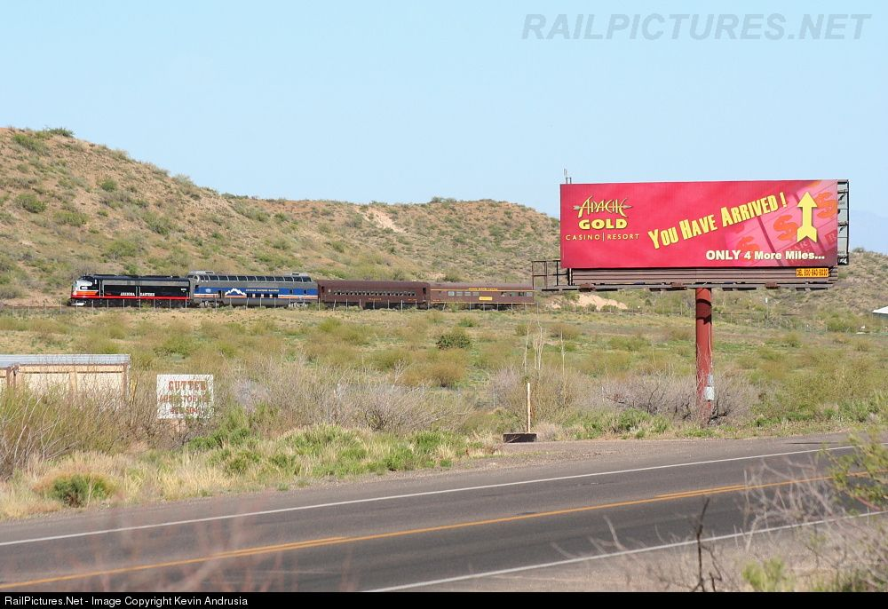 RailPictures.Net Photo: AZER 6070 Arizona Eastern Railway EMD E8(A) at Globe, Arizona by Kevin Andrusia