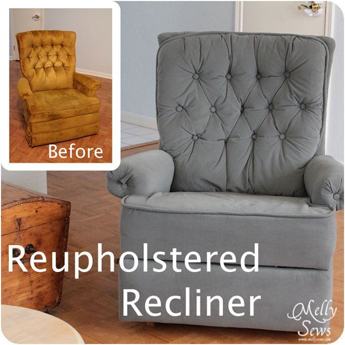 Project redecorate reupholster a recliner diy sofa - How to reupholster a living room chair ...
