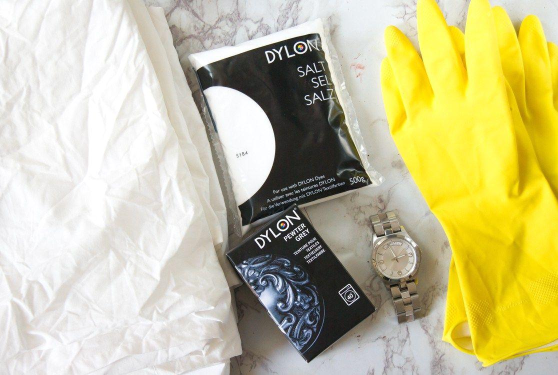 diy dip dye bettw sche diy home w sche bettw sche und bett. Black Bedroom Furniture Sets. Home Design Ideas