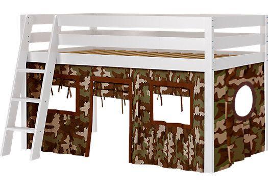 Camo Cabin White Jr Tent Loft Bed Cool Bunk Beds Loft Bed