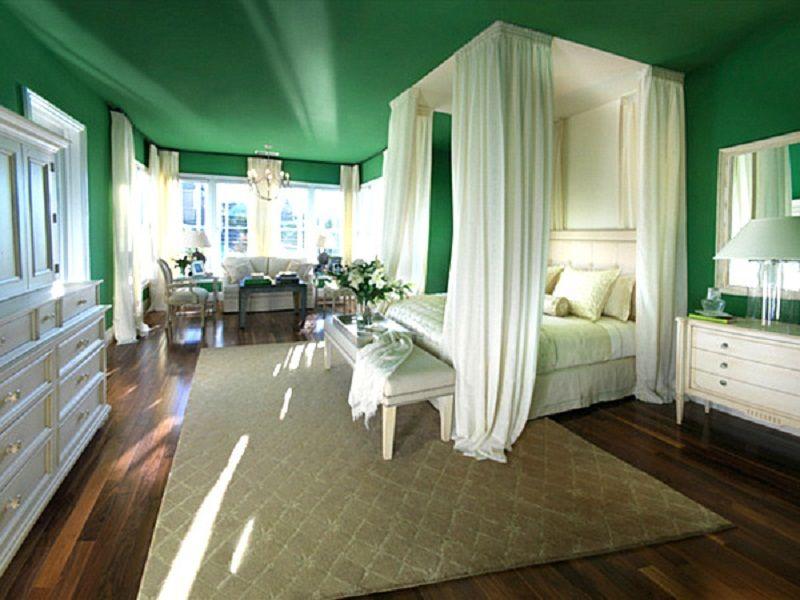 romantic green bedrooms. Posh Romantic Jade Green Bedroom Wall Paint Bedrooms N