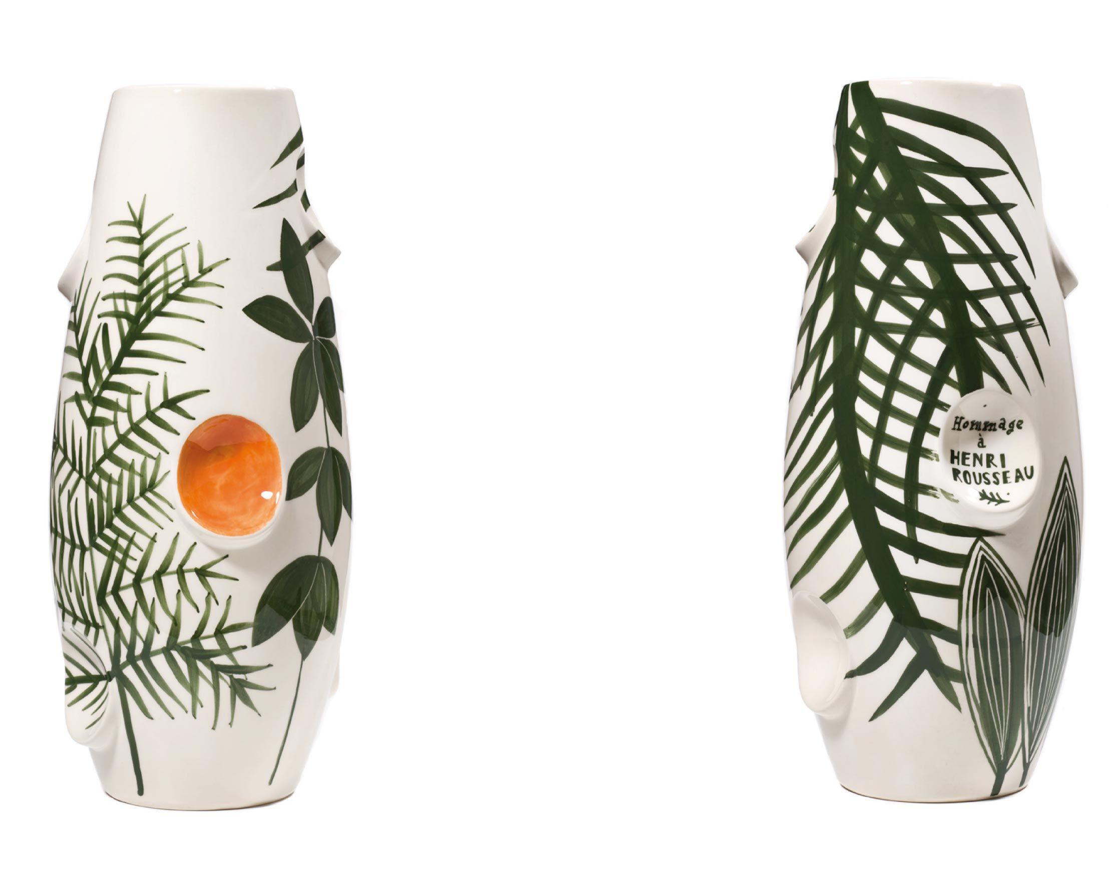 Jungle Unique Hand Painted Ceramic Vases By Malwina Konopacka
