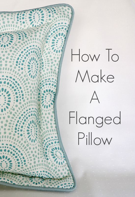 How To Make A Flanged Pillow With Cording. Sewing TutorialsSewing ...