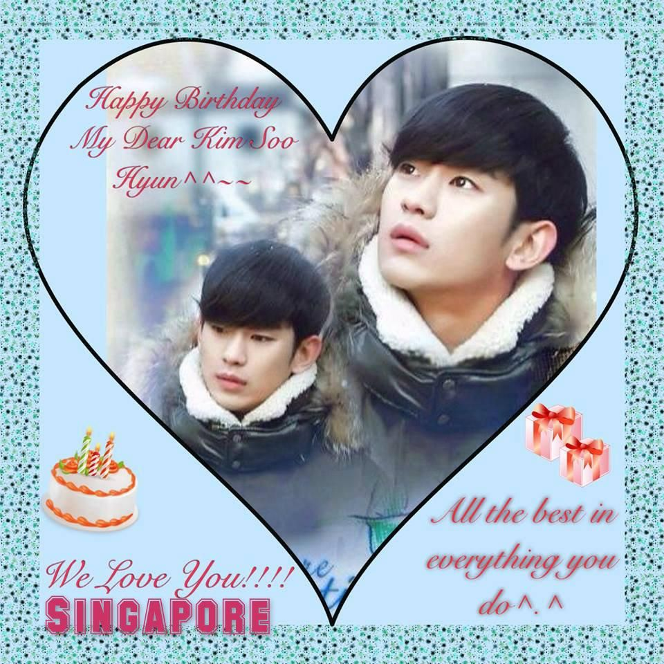 cool [Singapore] Kim Soo hyun Happy  Birthday 'We Wish You All The Best'