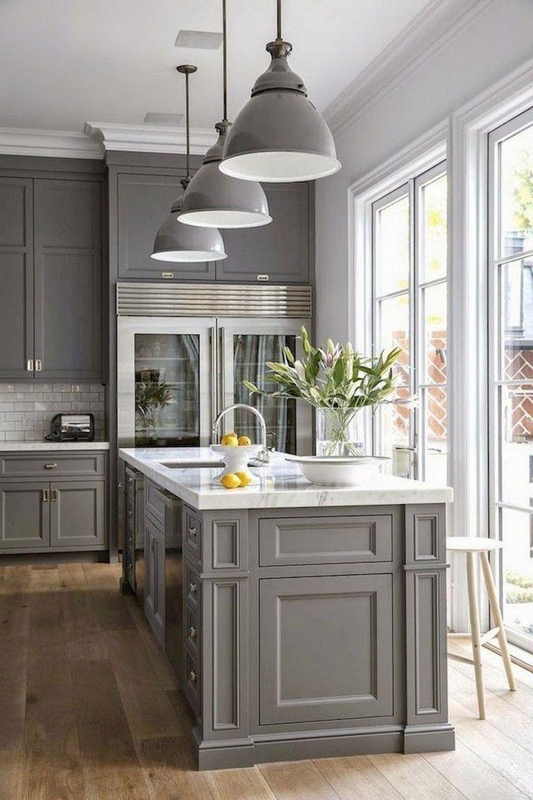 35 Admirable Farmhouse Grey Kitchen Cabinet Design Ideas Home Decor Kitchen Grey Kitchen Designs Kitchen Cabinet Design