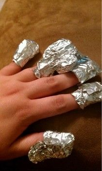 Interesting. Use foil to remove polish.