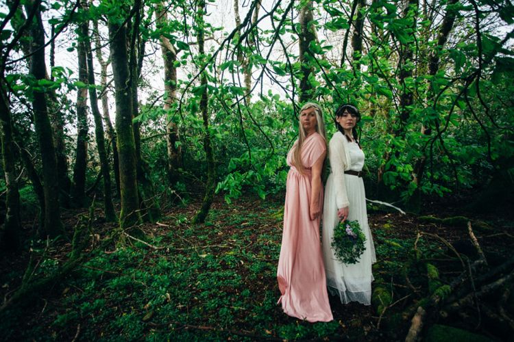 Lord of the Rings Woodland Bridal Wedding Editorial http://www.lucyturnbull.co.uk/ Me and Natalie Clair Toms on a photo shoot spring 2015.