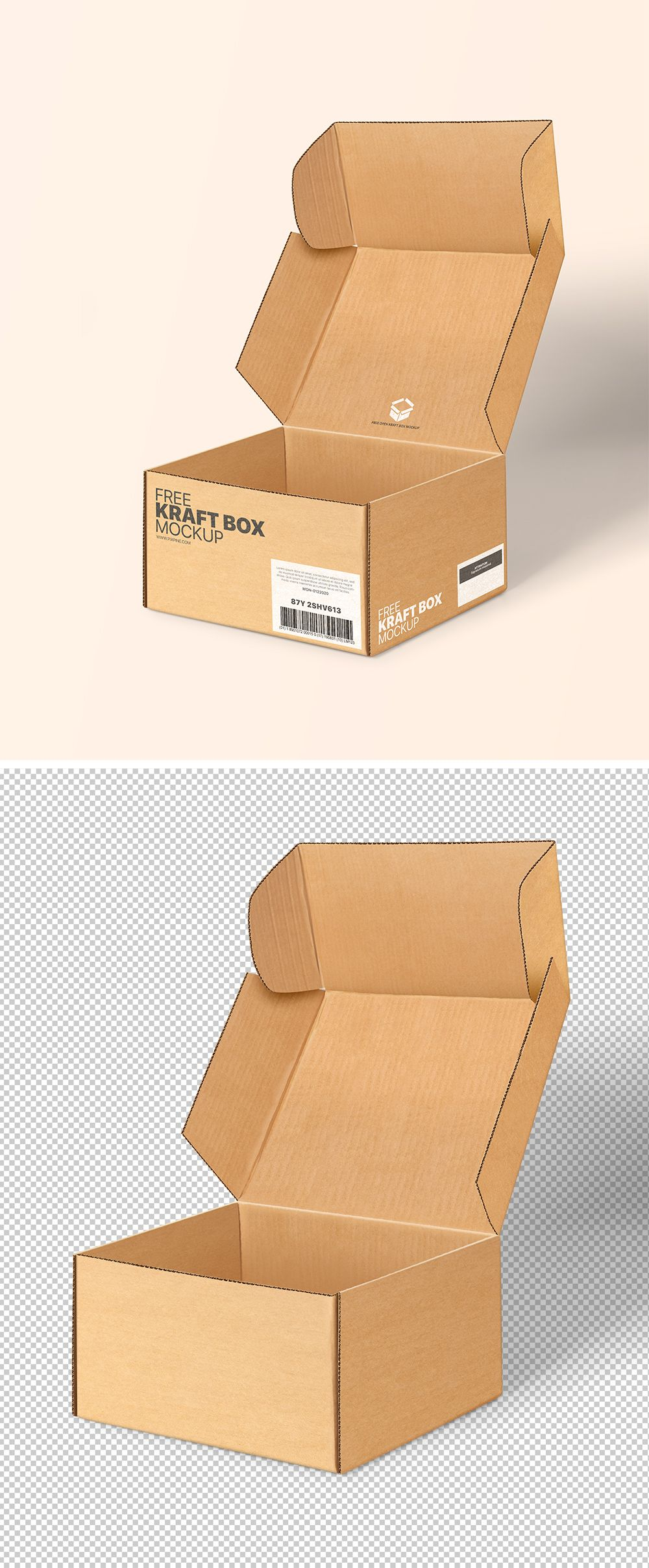 Download Free Open Kraft Box Mockup Free Mockups Pixpine Box Mockup Kraft Boxes Free Opening