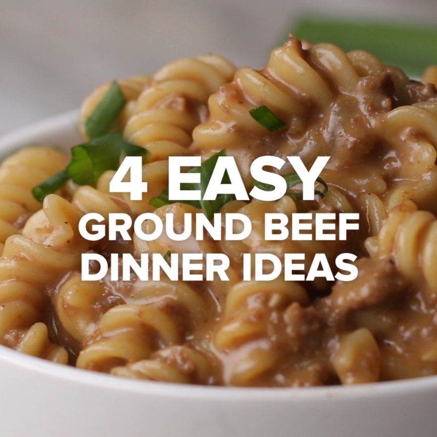 4 Buenas Ideas Sabrosas Y Sencillas Video Beef Dinner Dinner With Ground Beef Dinner Recipes