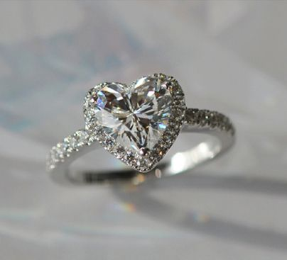 Genuine pure white gold 18k jewelry heart shape moissanite 2ct cheap ring gear ring buy quality ring finger directly from china ring mould suppliers heart shape synthetic diamond ring halo micro pave setting sterling junglespirit Choice Image