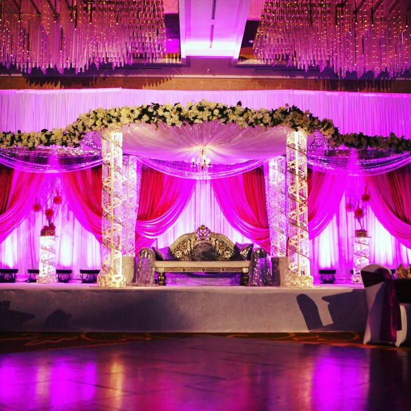 Wedding Reception Stage Pinktheme InspiredWeddingDecor Kanpur
