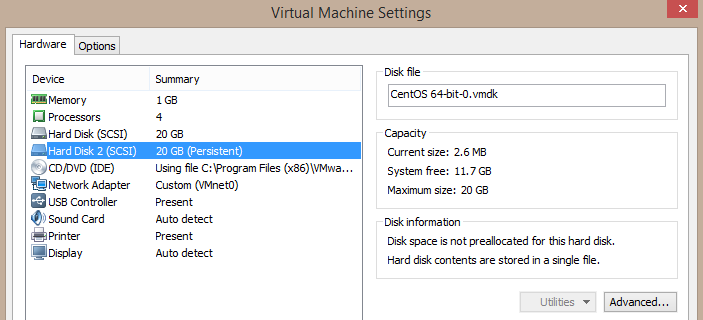 When adding a new disk drive to a running Virtual Machine