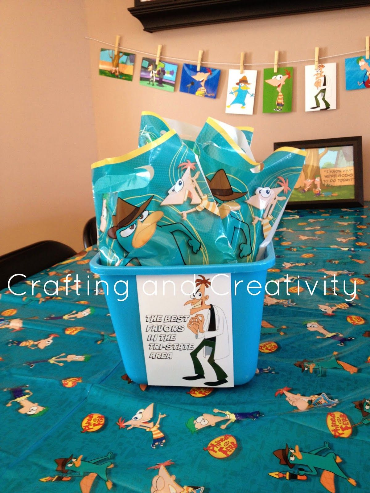 Crafting and Creativity My Sons 7th Birthday Party Phineas and – Phineas and Ferb Birthday Card