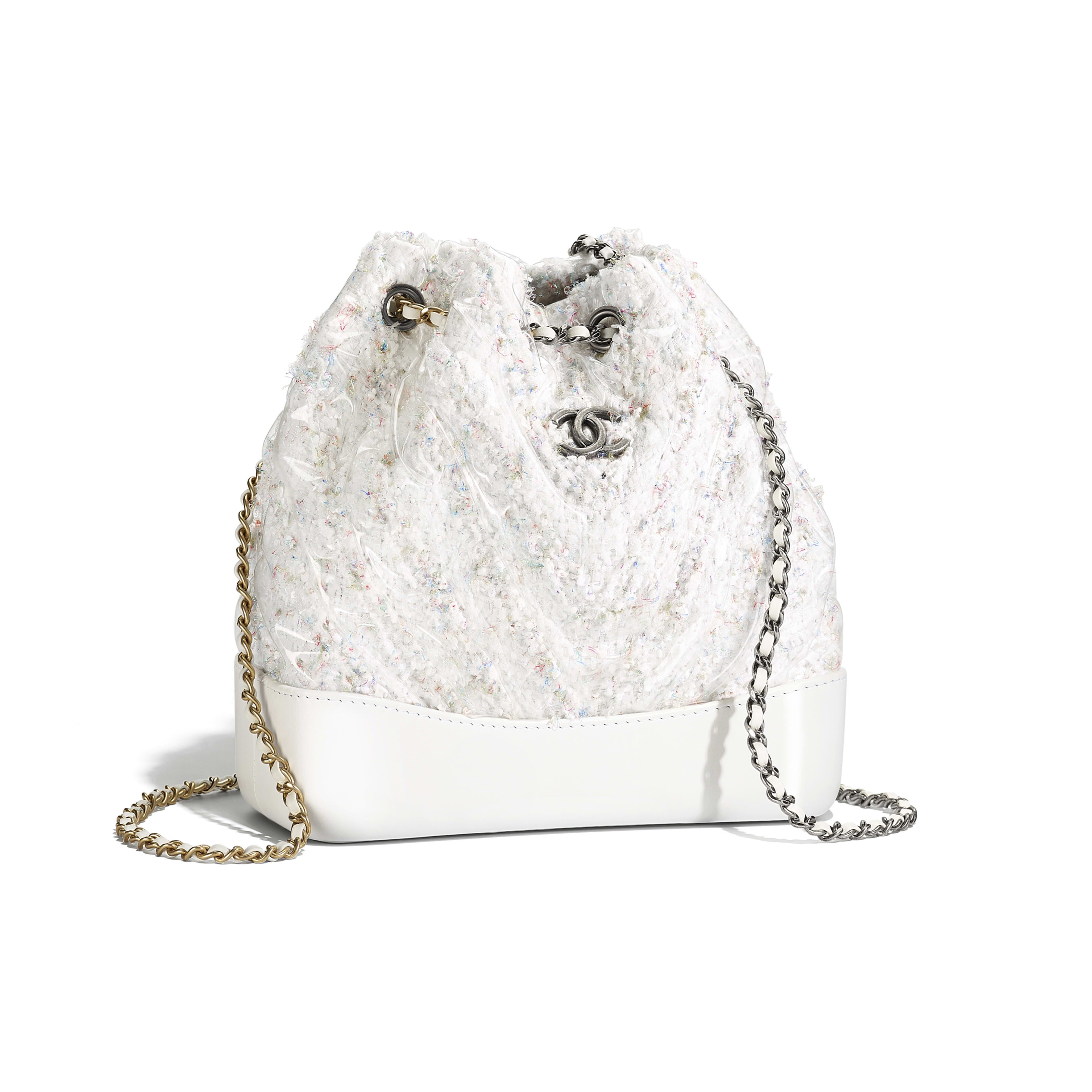 5742da799dd0 CHANEL'S GABRIELLE Small Backpack Tweed, PVC, Patent Calfskin, Silver-Tone  & Gold-Tone Metal White - view 1 - see full sized version