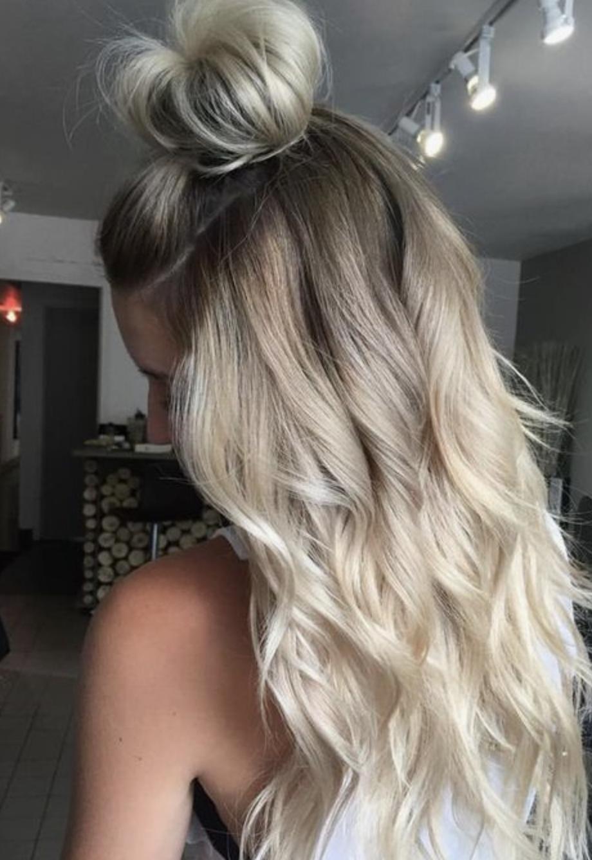 Blonde haare stufenschnitt