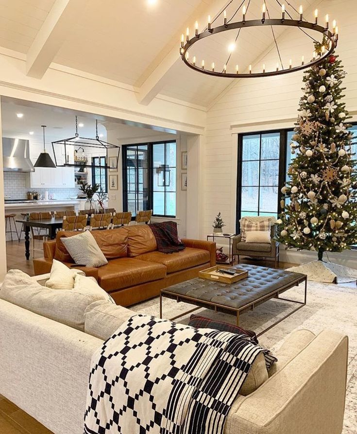 christmas interior leder couch  wohnen wohnzimmer