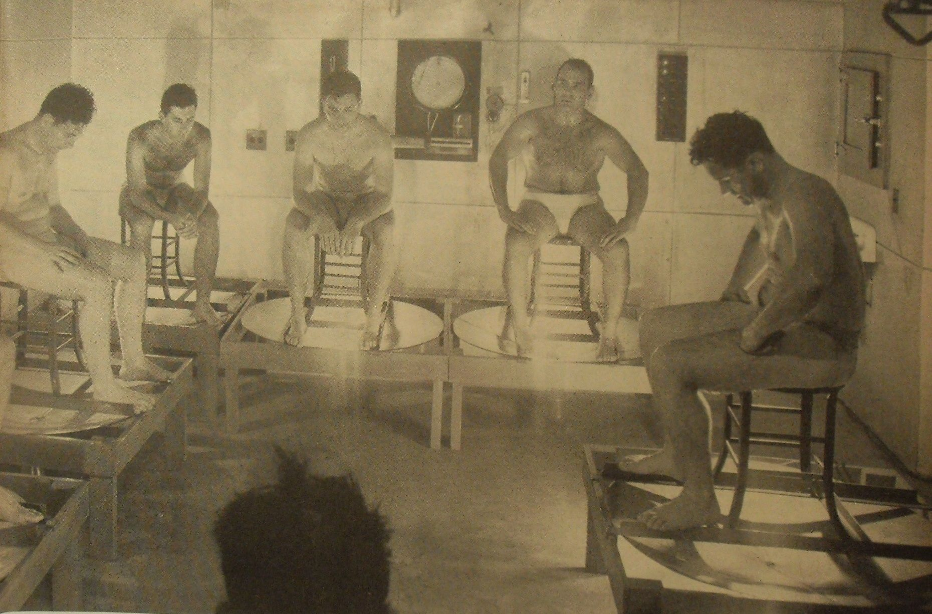 1950s Men Steam Room Vintage Gyms Of Yesteryear