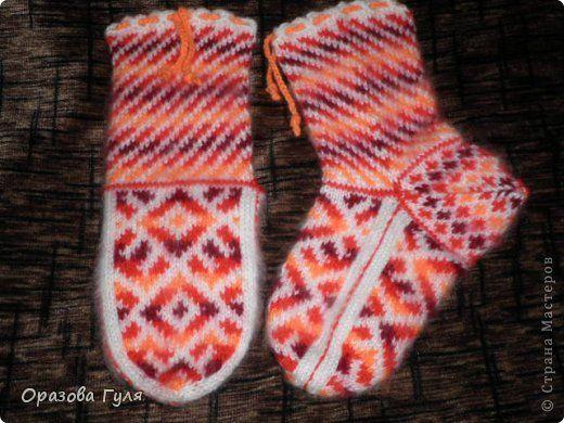 Теплые носки с орнаментом. Джурабы. фото 5 | Носки ...