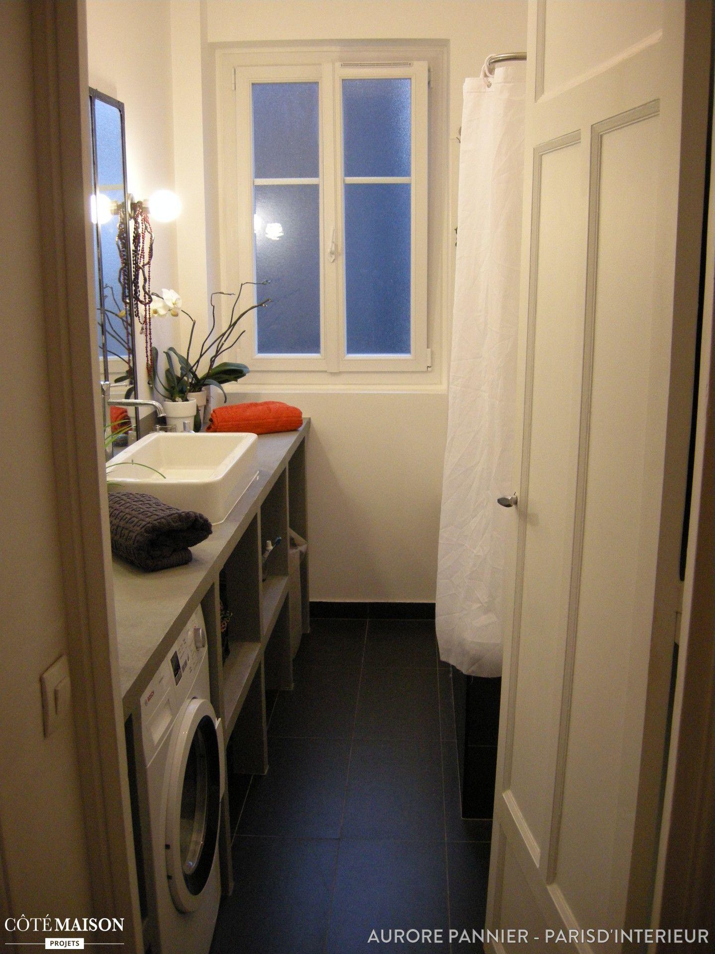 Salle De Bains Industrielle Aurore Pannier Côté Maison Petits - Cote maison salle de bain