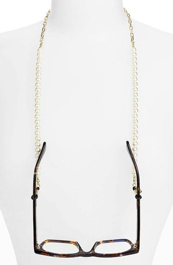 Corinne McCormack 'Pearls' Eyewear Chain (Nordstrom Exclusive) available at #Nordstrom