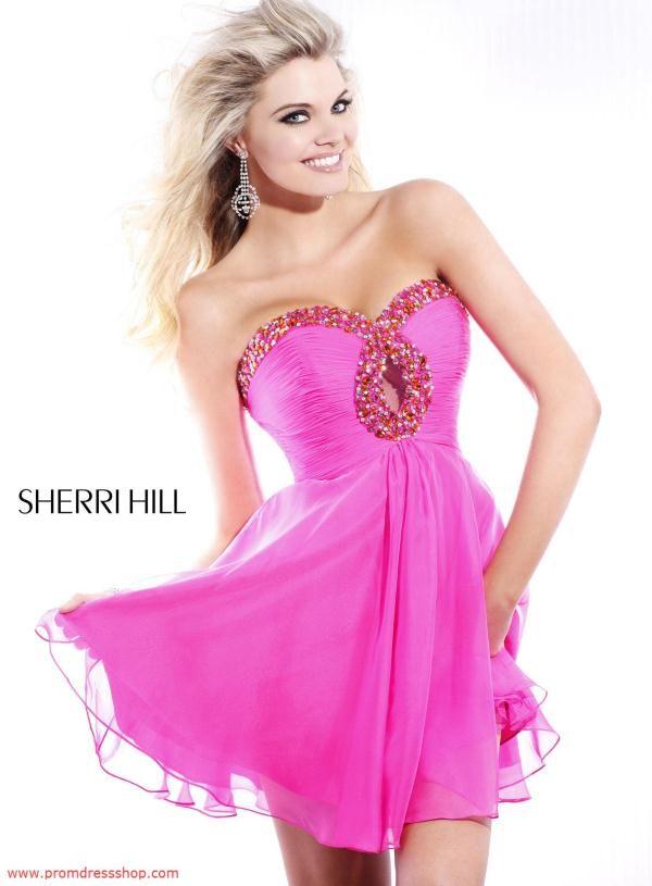 Coqueto Vestido de Cóctel de color Fucsia | vestidos q | Pinterest ...