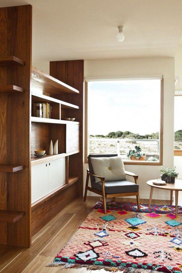 Built In Bookshelf/ Room Divider. Modern Australian Home Via @mydomaine