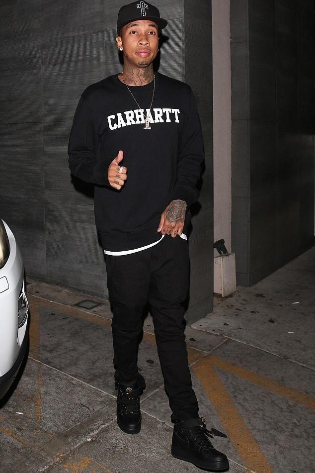 b3fb986364ea Tyga wearing Carhartt Wip College Sweatshirt