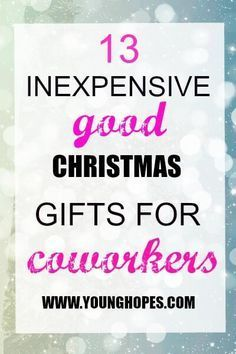 13 Inexpensive, Good Christmas Gifts for Coworkers • #giftsforcoworkers 13 Inexpensive Good Christmas Gifts for Coworkers  #christmas #gifts #coworkers #christmasgiftsforcoworkers
