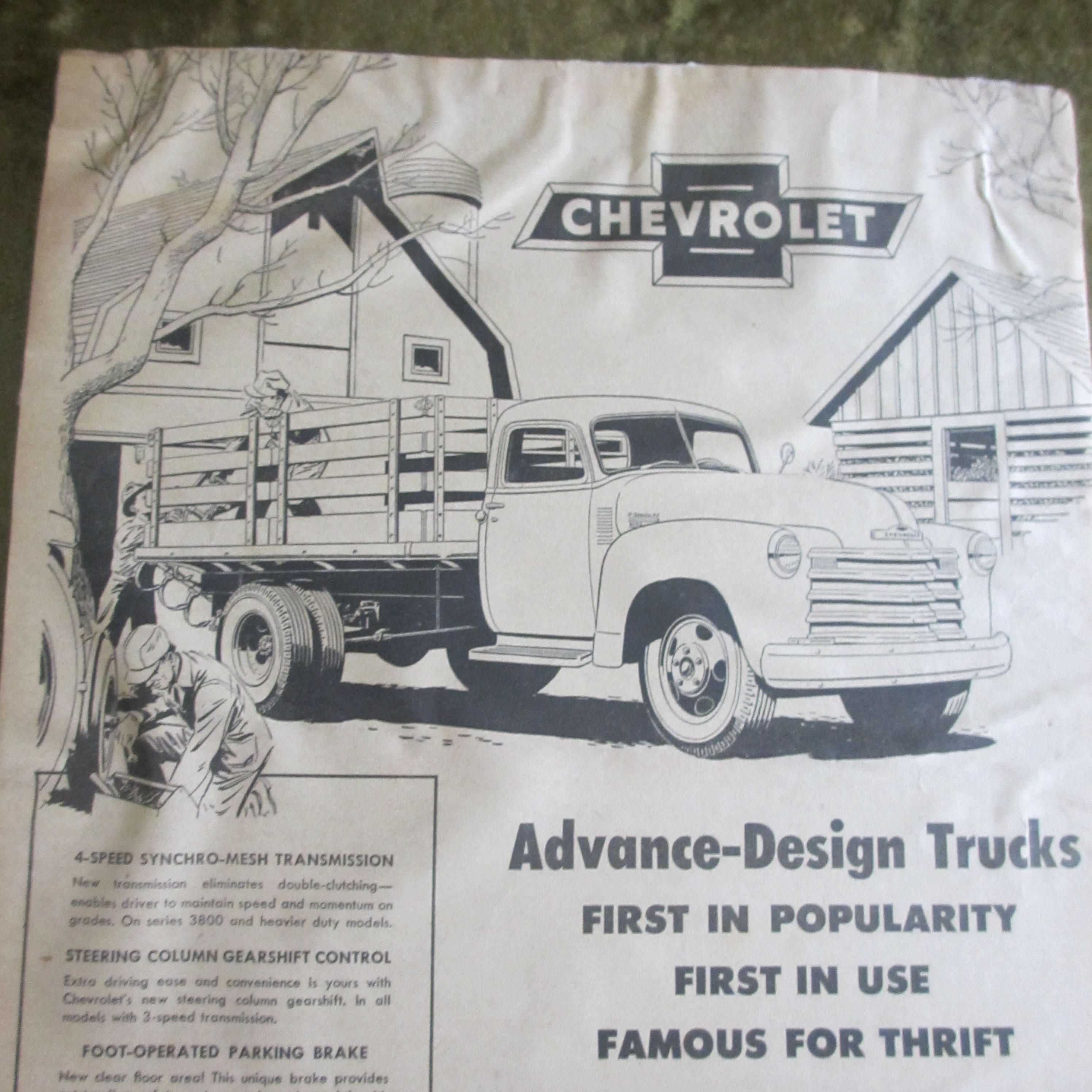 Chevrolet Truck Advertisement Newspaper Ad November 17 1949 Chevy Steering Column By Bluemoonrevival On Etsy
