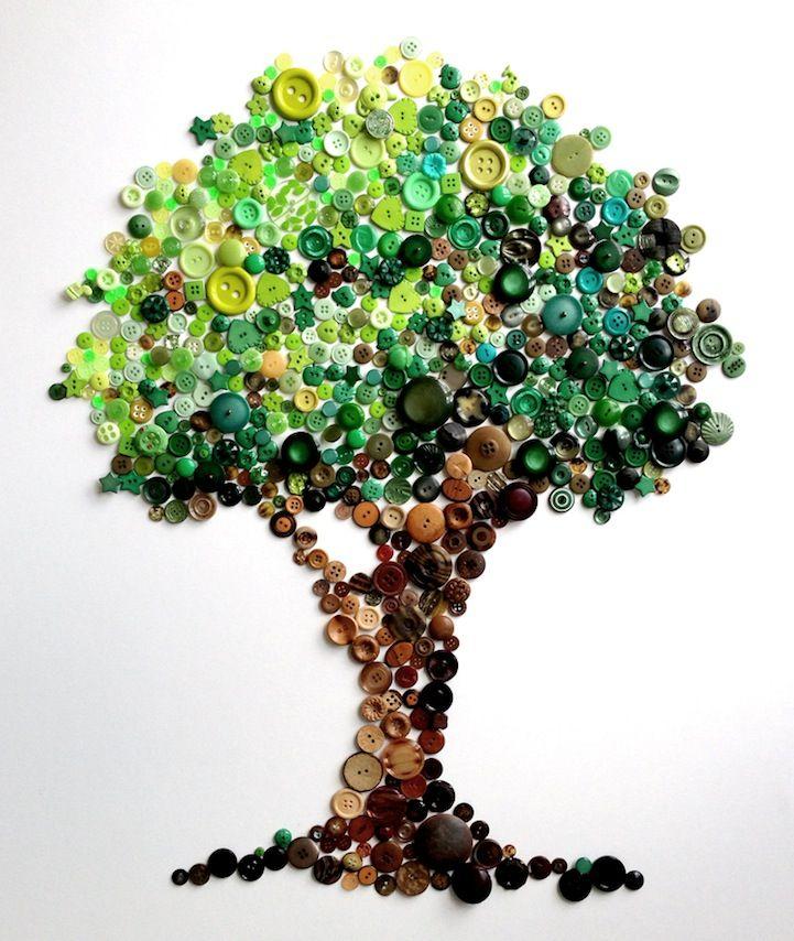 spectacular rainbow button art by karen hurley baum. Black Bedroom Furniture Sets. Home Design Ideas