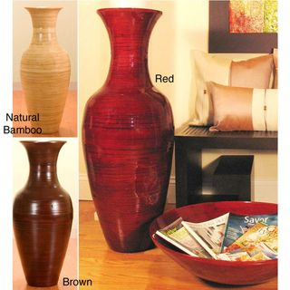 "floor vases for decoration home | large floor vases :: 36"" red"