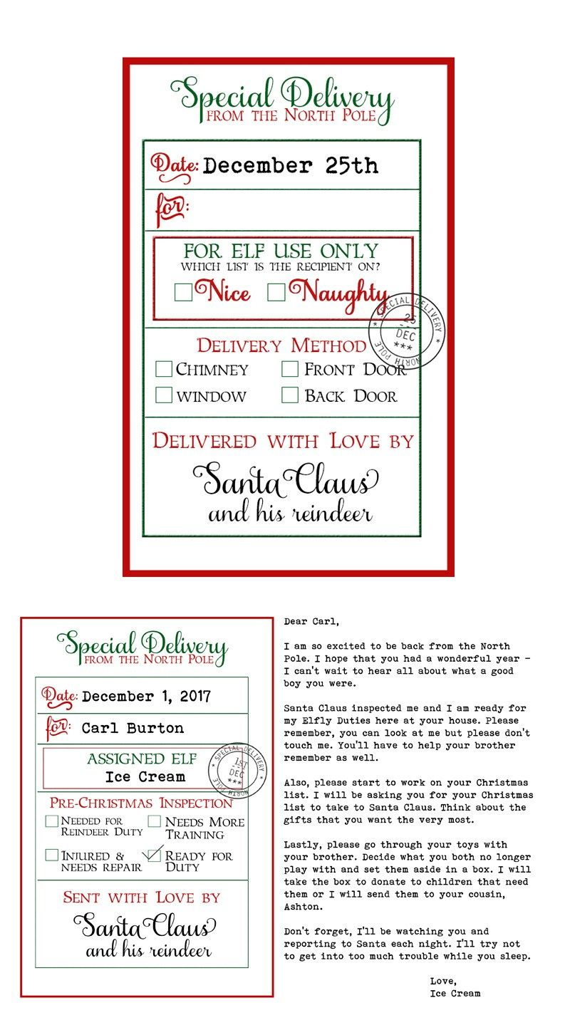 Free custom santa gift tags and elf arrival letter 3 free free custom santa gift tags and elf on a shelf arrival letter free printable christmas gift tags from santa and free elf on a shelf printable negle Gallery